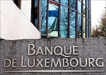 The headquarters of the Bank of Luxembourg in central Luxembourg.