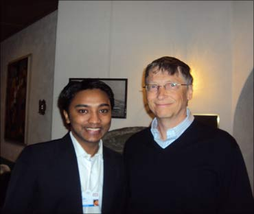 Suhas with Microsoft co-founder Bill Gates.