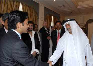 Suhas meeting with Sheikha Nayhan, Minister for Higher Education, the UAE.