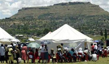 Lesotho villagers.
