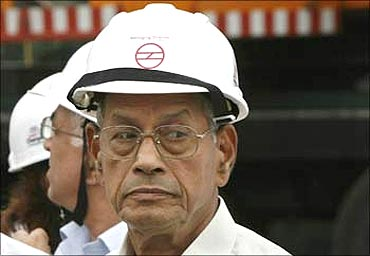 Delhi Metro Rail Corporation (DMRC) Managing Director E Sreedharan.