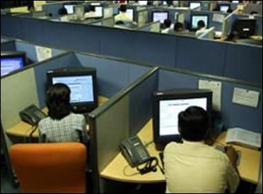 A call centre.