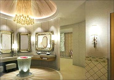Interiors of Antilia.
