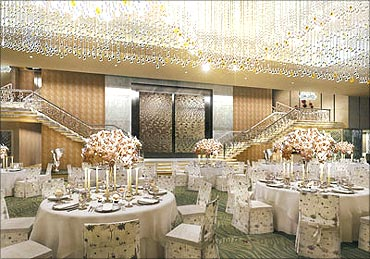 Antilia's posh dining room.