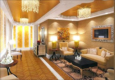 Antilia's stylish decor.