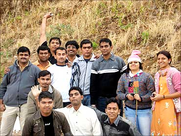 Medsynaptic team during a tour.
