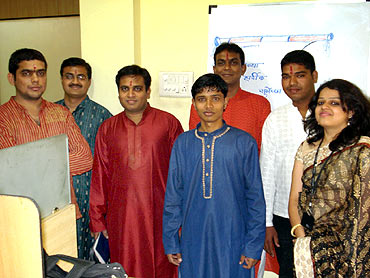 Medsynaptic team with Ashish Dhawad (third from the left).
