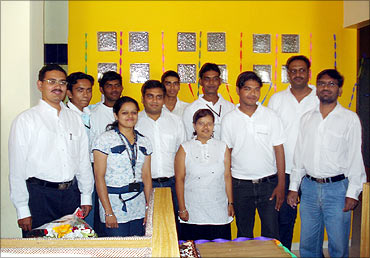 Ashish Dhawad with the team.