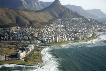 Cityscape of Cape Town in South Africa.
