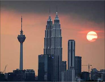 The skyline of Kuala Lumpur.