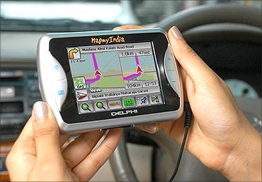 Mapmyindia's GPS system.