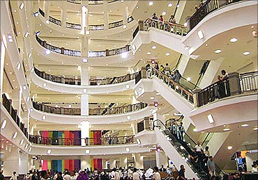A shopping mall.