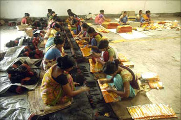 Rural women at work.