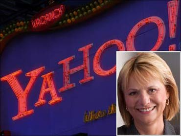 (Inset) Carol Bartz, Yahoo chief executive.