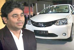A R Rahman; Toyota Etios