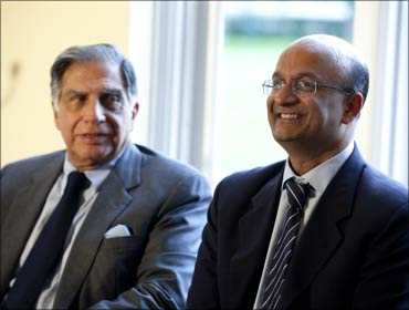Ratan Tata and Harvard Business School Dean Nitin Nohria.