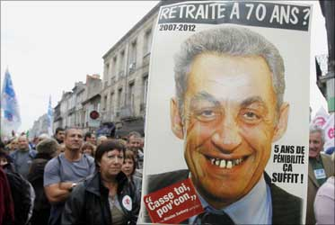 France says 'get lost' to Sarkozy's pension plan