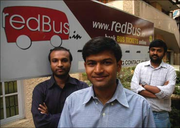 The redBus founders.