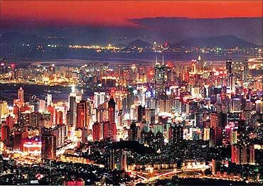 Landscape of Chengdu.
