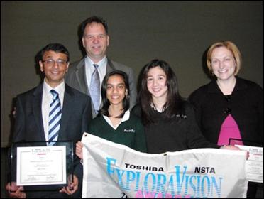 Uresh Patel (Mentor), Bruce Engberg, Anika Patel, Angela Riggins, Sara Konek (Coach) (L toR)