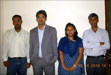 Ankur with his team at Akosha.