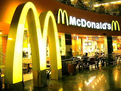 McDonald's is world's largest chain of hamburger fast-food restaurants.
