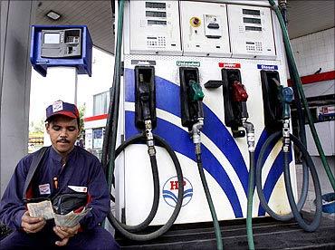HPCL petrol pump.