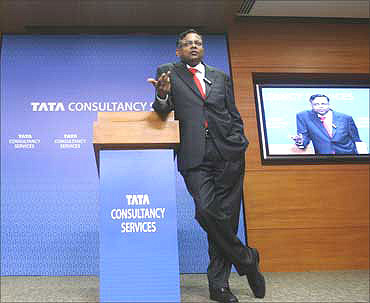 Tata Consultancy Services chief executive N Chandrasekaran.