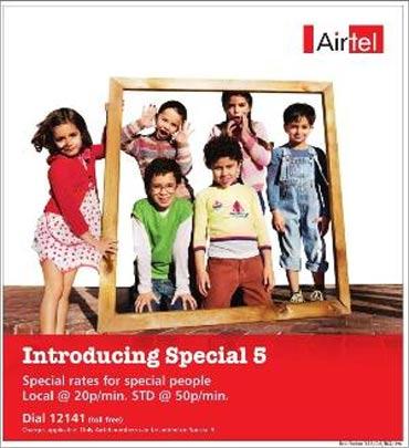 Bharti Airtel advertisement.