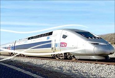 A bullet train in Germany.