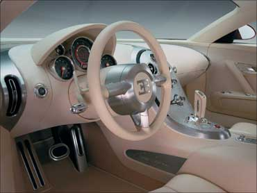 Interior of Bugatti sold in the US.