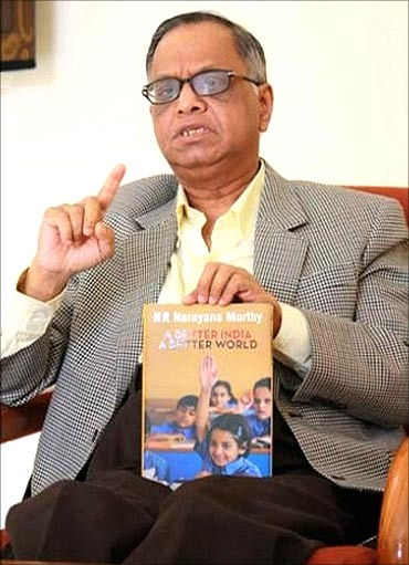 Infosys mentor N R Narayana Murthy.