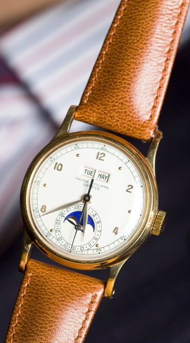 A wristwatch for auction preview at Christie's in Geneva. The image is for representative purpose only.