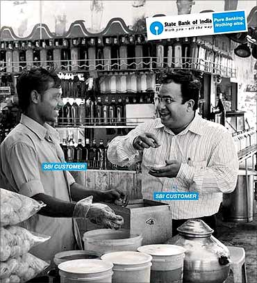 State Bank of India advertisement.