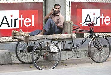 Rise in mobile phone susbcribers.