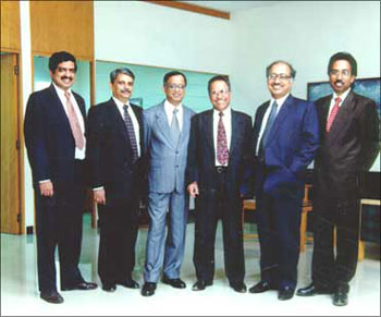 The Infosys co-founders.