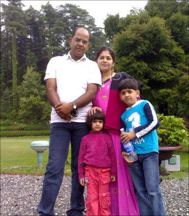 Inder Goyal with his family.