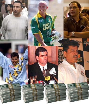 Some cricketers who were involved in match fixing scandal.