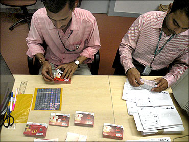 Order fulfillment team packing the coupons.