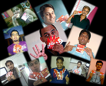 Freecharge fans with their coupons.