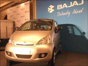 The Bajaj small car may look like this.