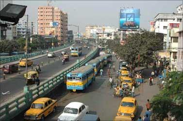 A flyover in Kolkata.