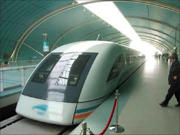 The Shanghai Metro.