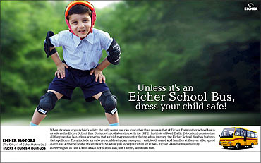 Purple Focus's ad campaign for Eicher.