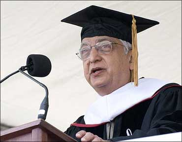 Azim Premji during a graduation ceremony in Stanford.
