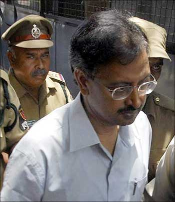 Ramalinga Raju after being release from jail.