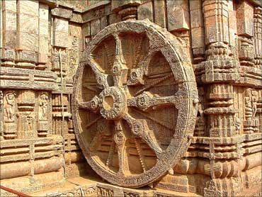 The Wheel of Konark, Orissa.