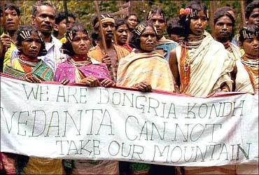 Protesting tribals.