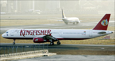 A Kingfisher Airlines aircraft.