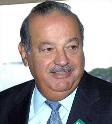 Mexican tycoon Carlos Slim.